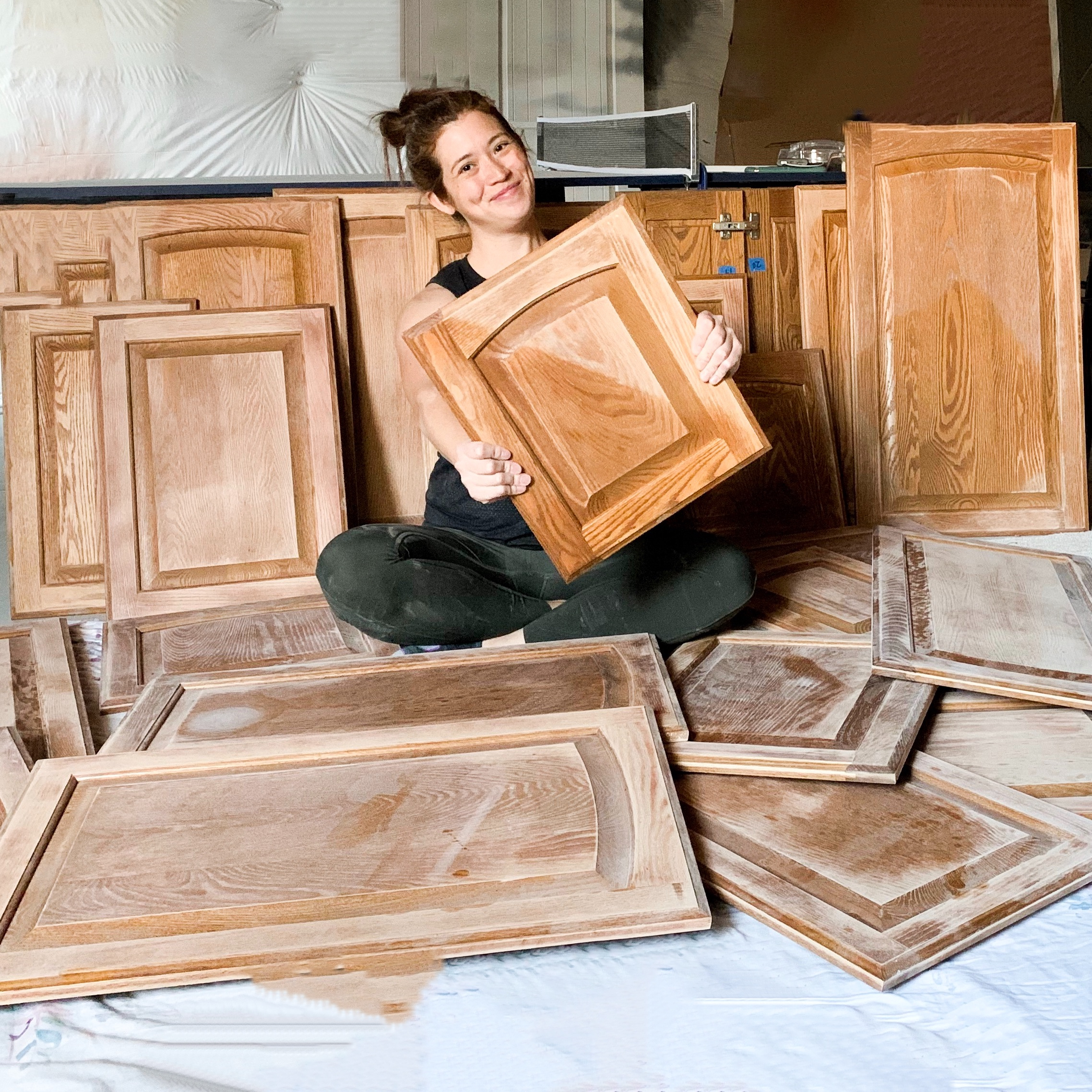 How To Paint Stained Oak Cabinet Doors Honey Built Home